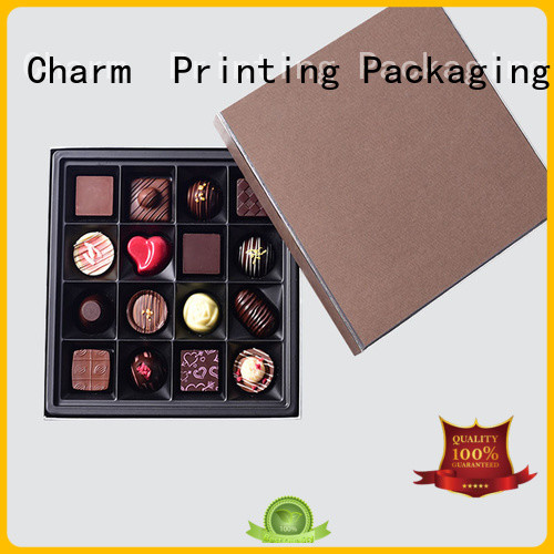 Charm Printing book shape chocolate packaging box foil stamping gift box