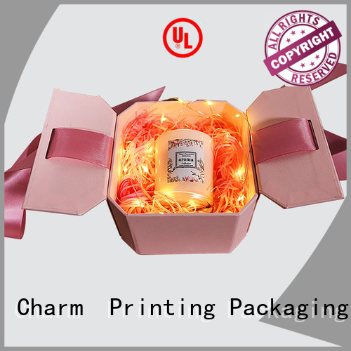 Charm Printing with ribbon fragrance box free sample for modern mowen