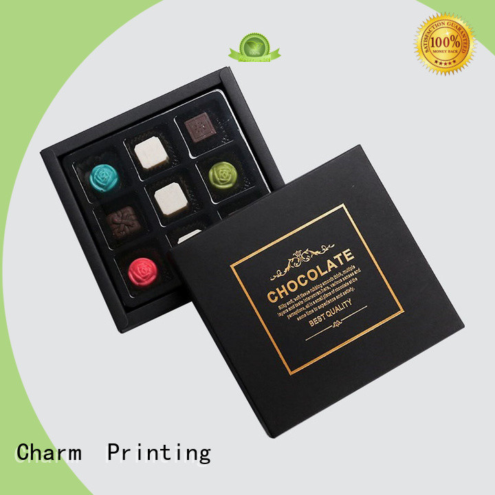luxury chocolate packaging box foil stamping luxury box