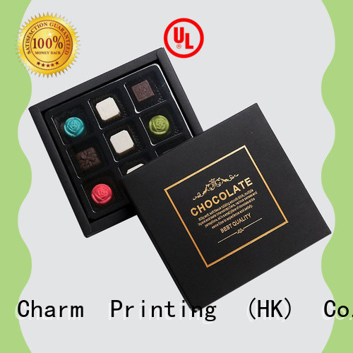 Charm Printing book shape chocolate box thick for chocolate box