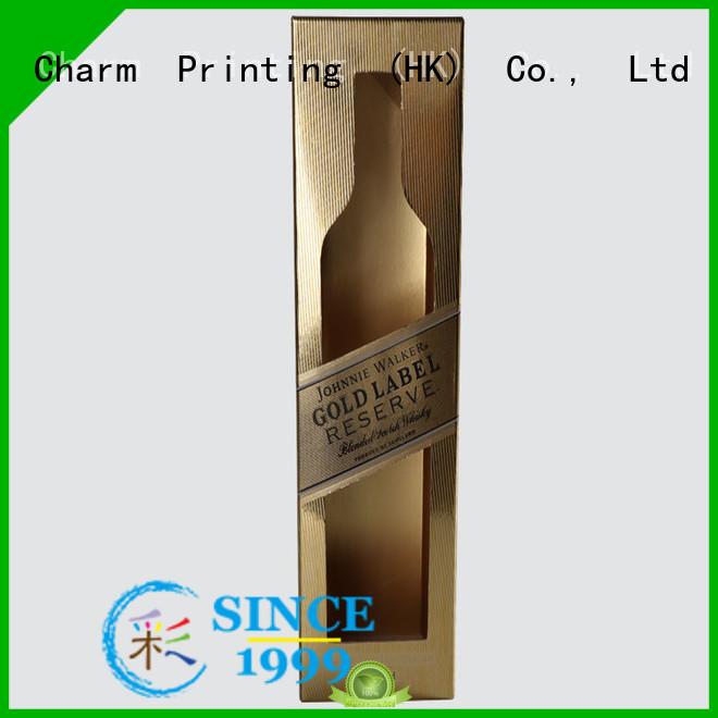 Custom Luxury Golden Wine Box for Gift Packaging