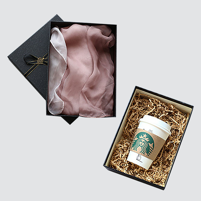 Lid and Base Gift Box made for Silk Scarf packaging