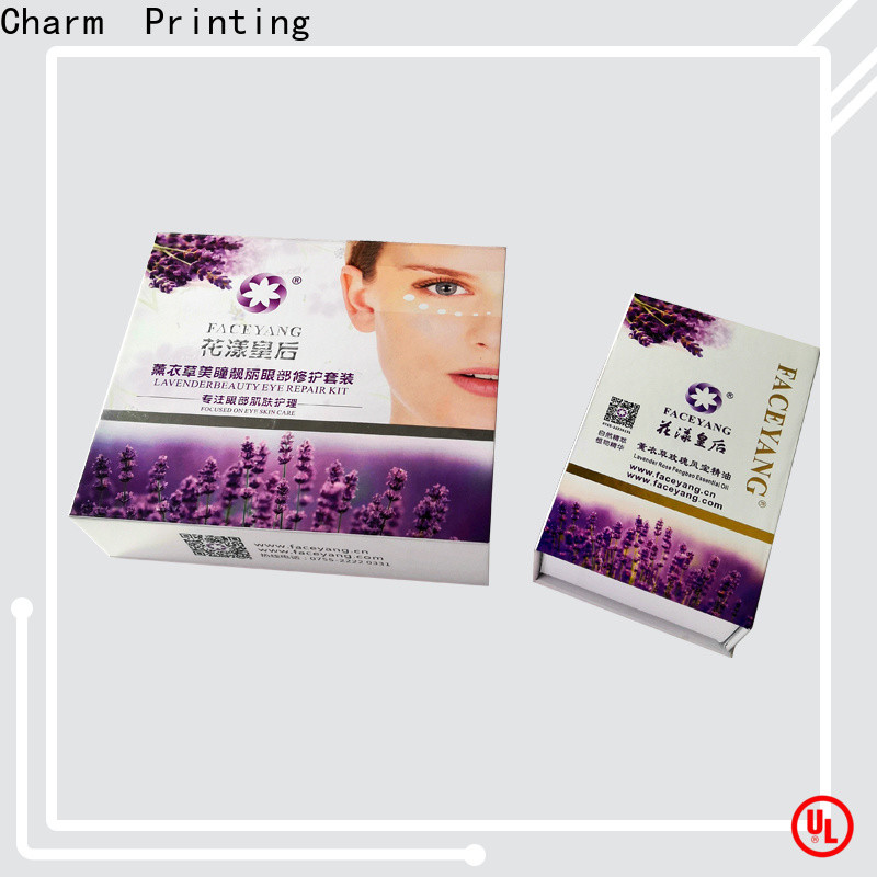 Charm Printing cosmetic box uv printing storage