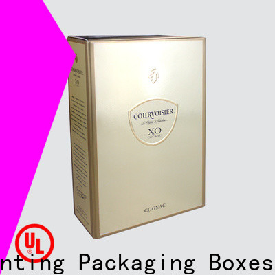 Charm Printing colorful card wine gift box luxury design alcohol packaging