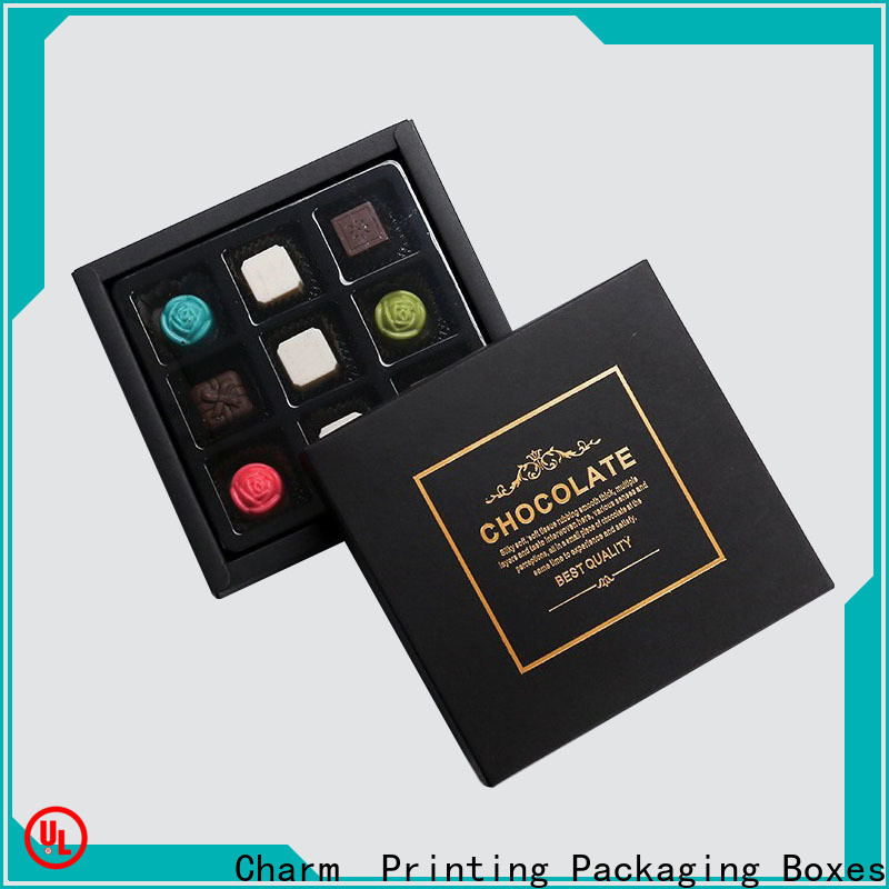Charm Printing chocolate packaging automatic slide luxury box