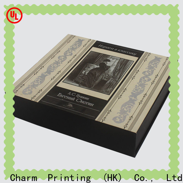 Charm Printing coloful cosmetic packaging box uv printing storage