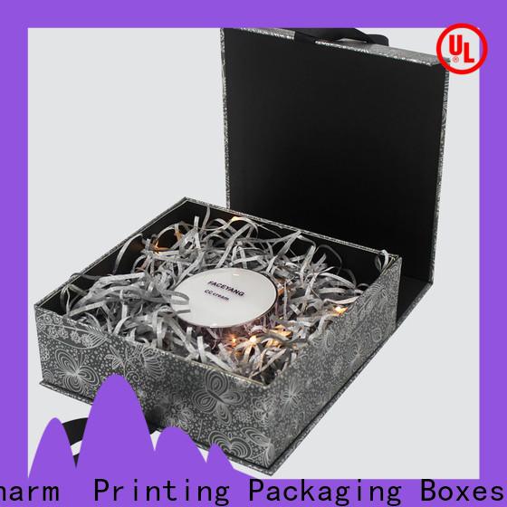 CharmPrinting handmade cosmetic packaging box uv printing storage