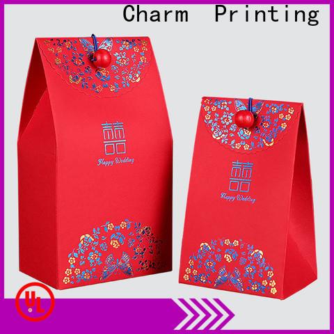 CharmPrinting custom wedding packaging creative design for gift