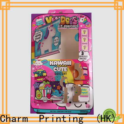 Charm Printing fashion design toy packaging boxes buy now gift packaging