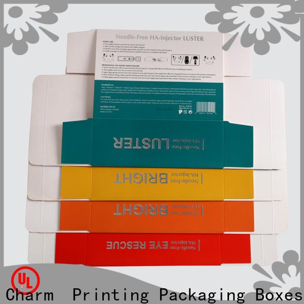 CharmPrinting cosmetic packaging box uv printing storage