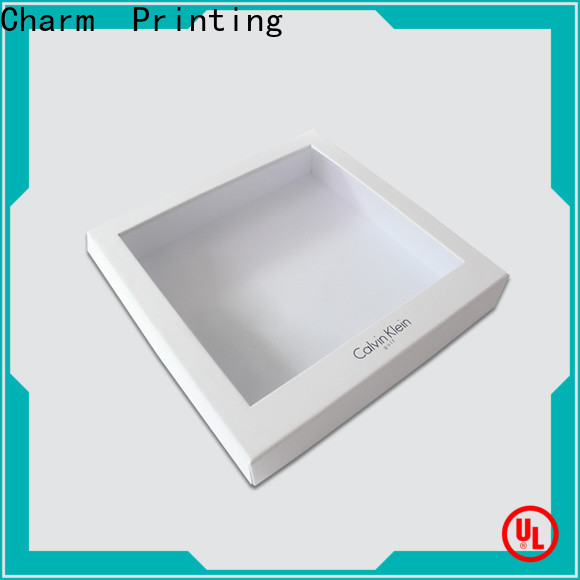 Charm Printing manufacturer clothing packaging boxes handmade for apparel