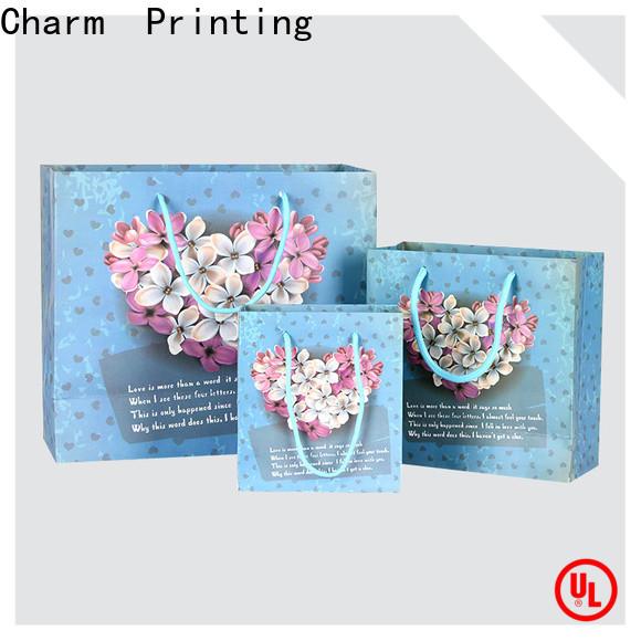 CharmPrinting custom paper gift bags latest for shopping bag