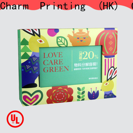 CharmPrinting food packaging boxes factory price for food box