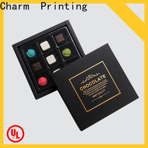 custom lid chocolate packaging automatic slide gift box