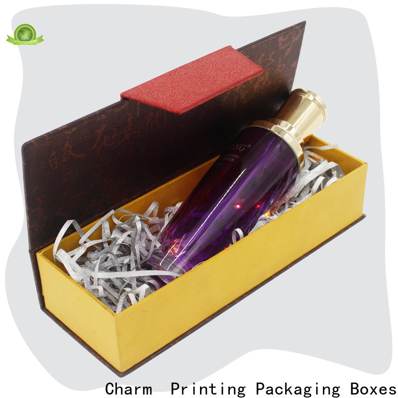 Charm Printing handmade cosmetic packaging box uv printing gift package