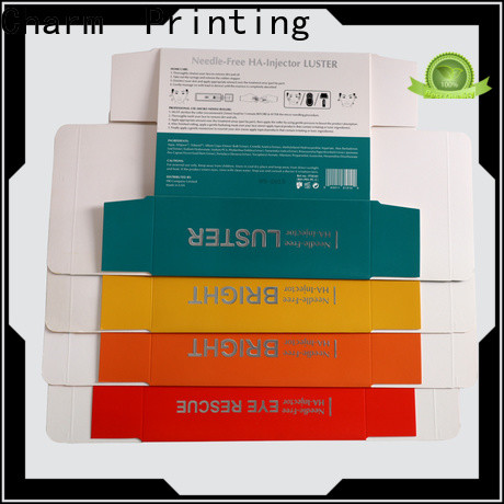 CharmPrinting coloful cosmetic box uv printing shop promotion