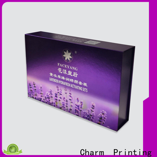 handmade cosmetic packaging box uv printing storage
