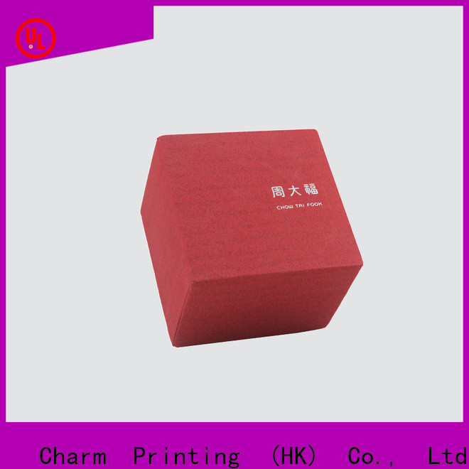 CharmPrinting custom jewelry packaging box factory price for gift box