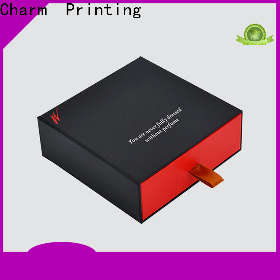 Charm Printing drawer type perfume packaging box colorful for modern mowen