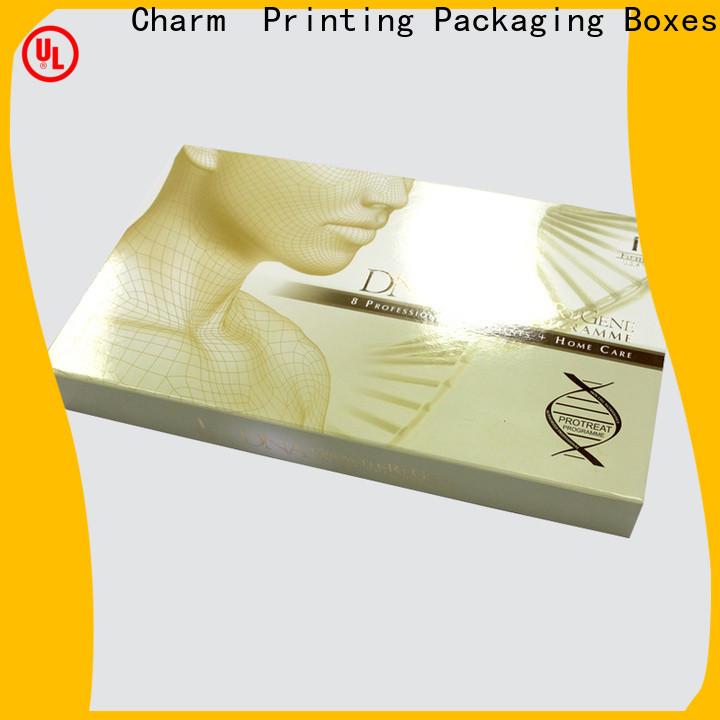 CharmPrinting cosmetic packaging box uv printing shop promotion