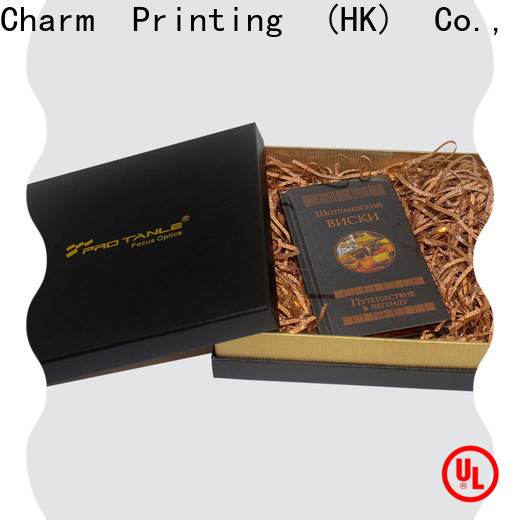 CharmPrinting book shape type gift box factory price for packaging