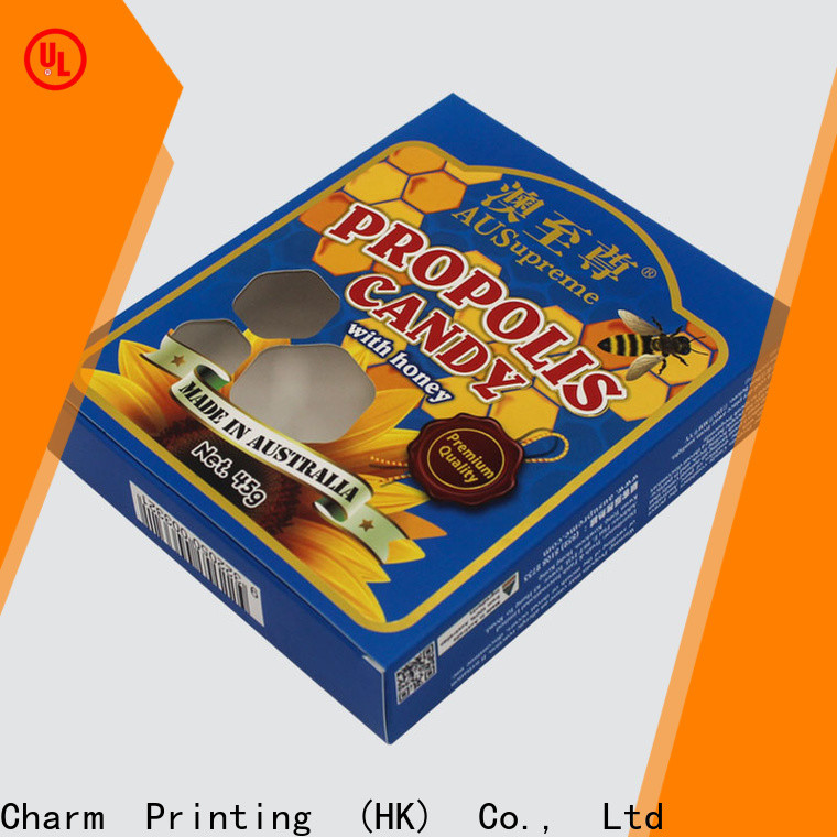 Charm Printing special shape gift box high quality for food box