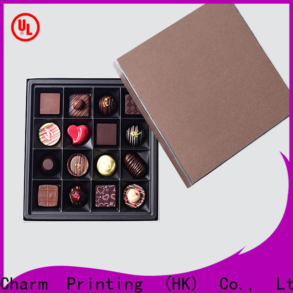 CharmPrinting book shape chocolate packaging automatic slide gift box