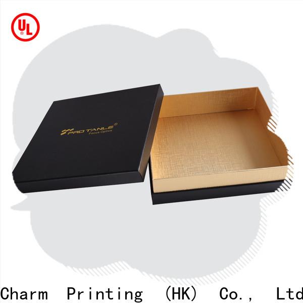 CharmPrinting custom lid chocolate box automatic slide luxury box