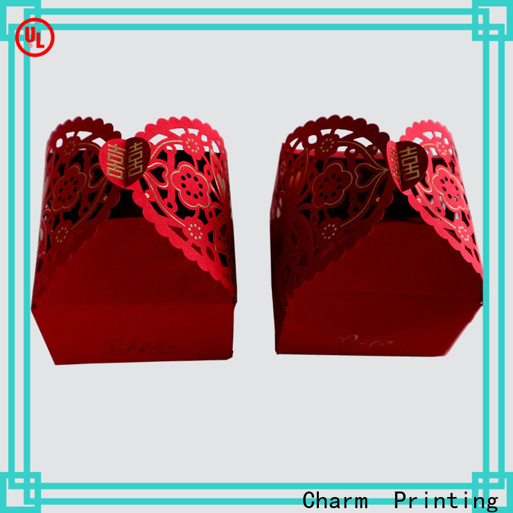 CharmPrinting art paper wedding packaging for wholesale for gift