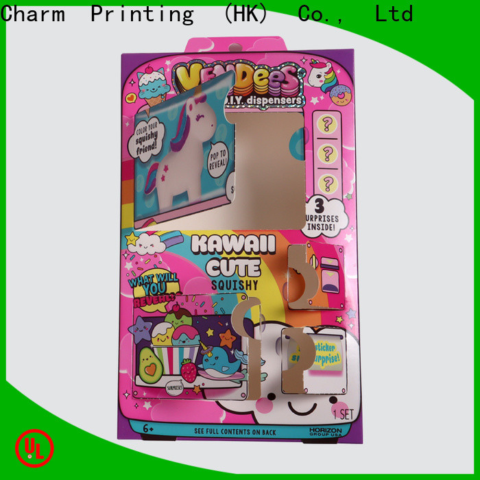 CharmPrinting colorful toy packaging get quote corrugated Box