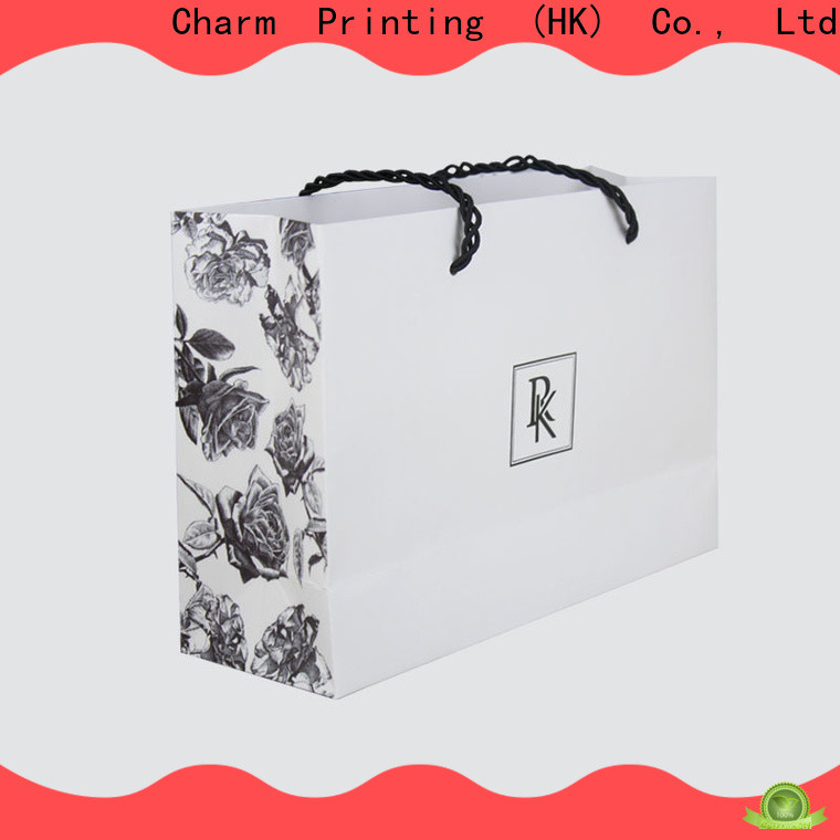 CharmPrinting paper gift bags fashion design for shopping bag