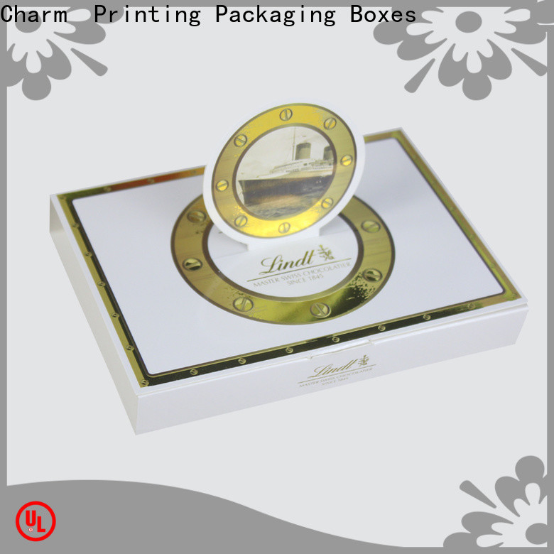 CharmPrinting chocolate packaging box thick for chocolate box