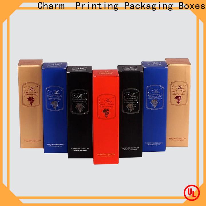 colorful card wine packaging box luxury design food packaging