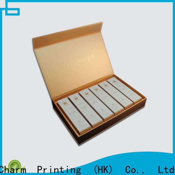 CharmPrinting coloful cosmetic packaging uv printing gift package