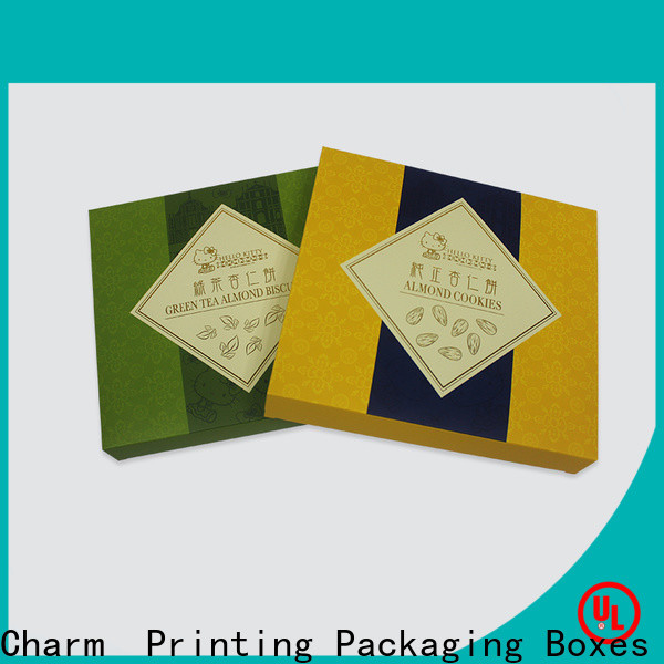 Charm Printing with tray pillow box handmade for food box