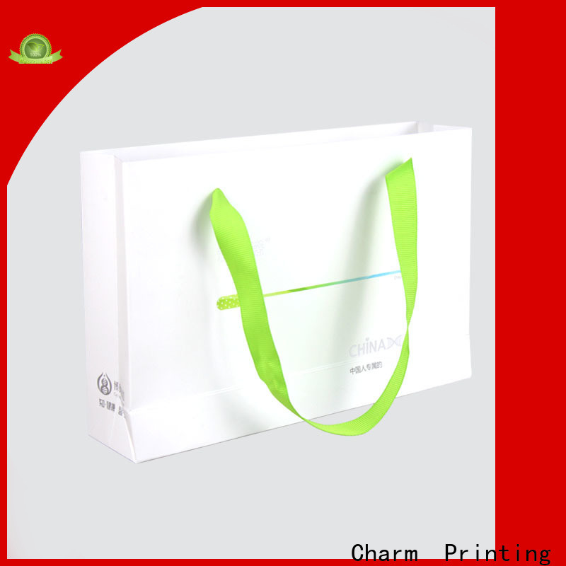 CharmPrinting high-quality paper gift bags on-sale for shopping bag
