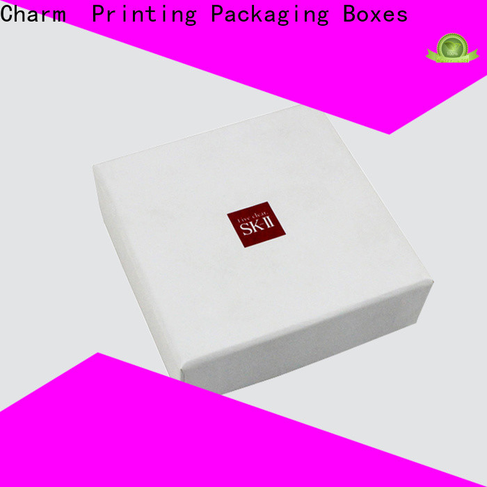 Charm Printing coloful cosmetic packaging box offset printing shop promotion