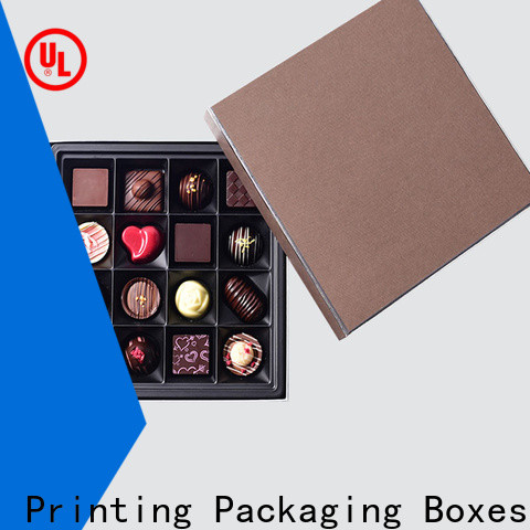 CharmPrinting custom lid chocolate box foil stamping gift box