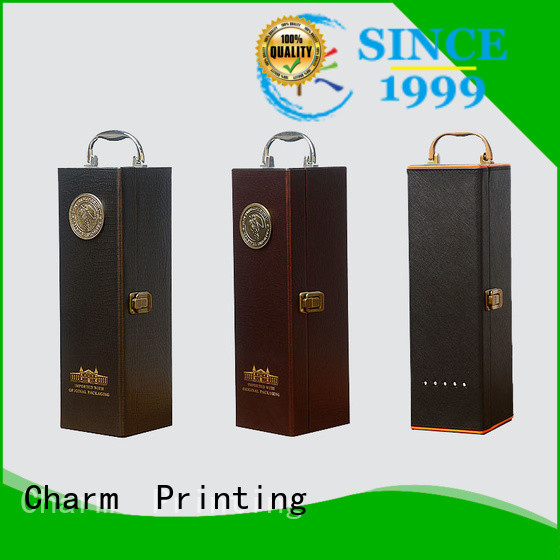 Charm Printing personalized wine packaging box handmade food packaging