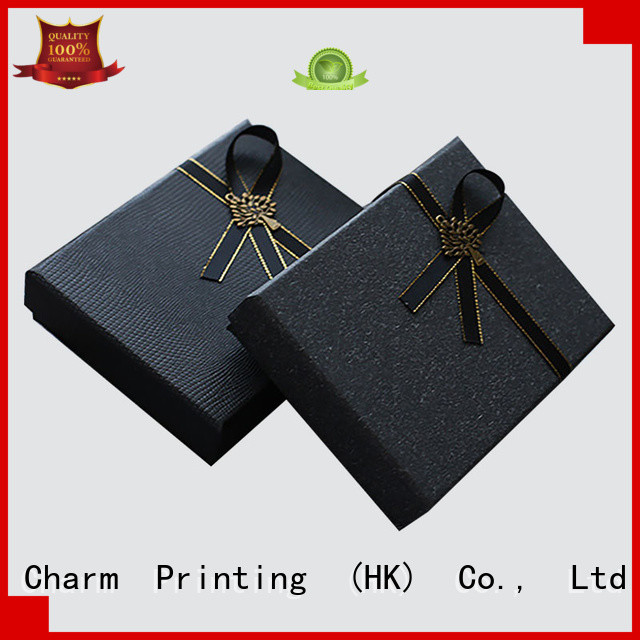 Charm Printing manufacturer clothing packaging boxes white paperboard for apparel