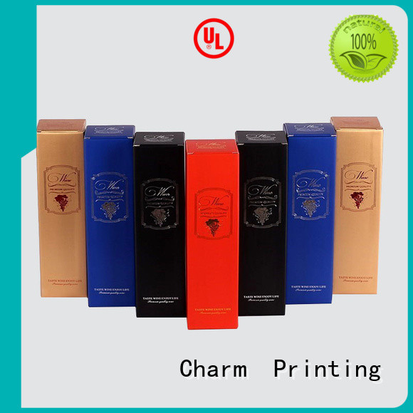 Charm Printing wine packaging box handmade food packaging