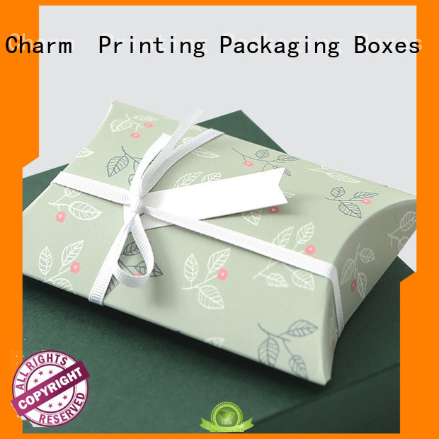 CharmPrinting fashion design clothing packaging boxes white paperboard for clothes