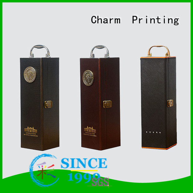 CharmPrinting wine gift box manufacturer alcohol packaging