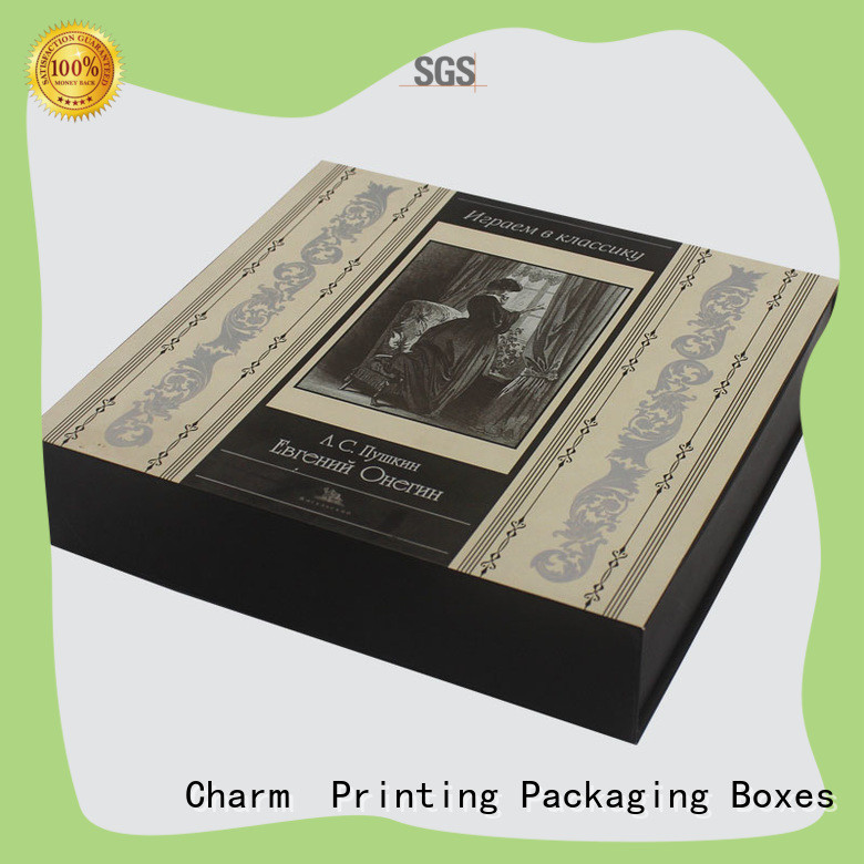 CharmPrinting handmade cosmetic packaging box high quality storage