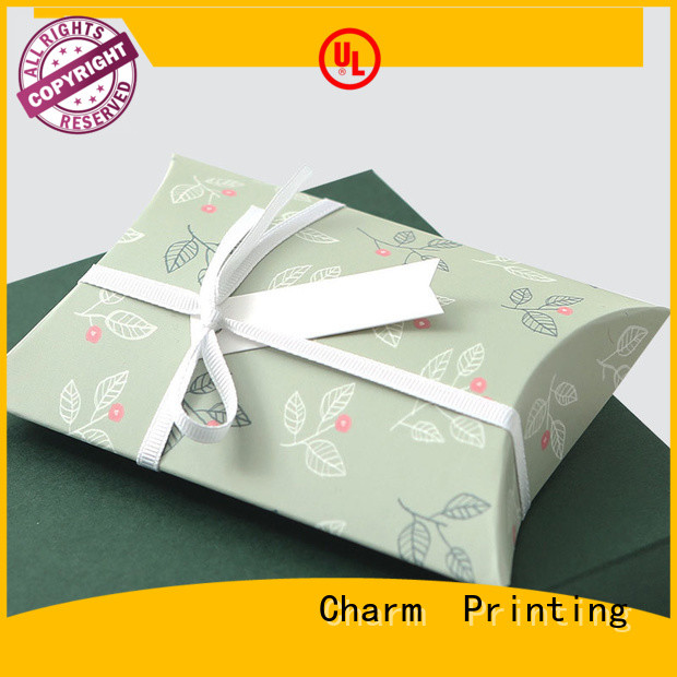 CharmPrinting apparel packaging boxes white paperboard for apparel