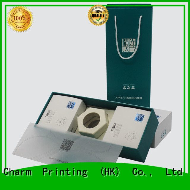 Charm Printing cardboard gift boxes base box health care product