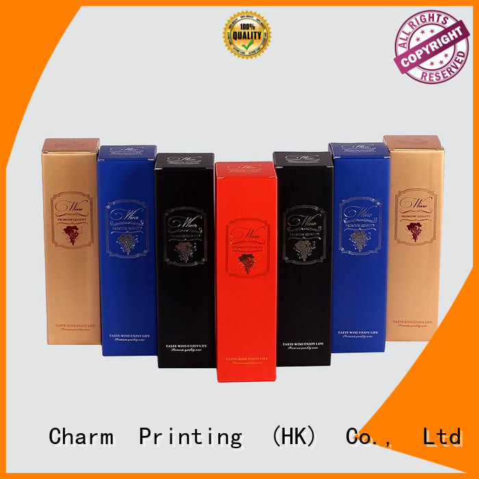 CharmPrinting colorful card wine packaging box handmade wine packaging