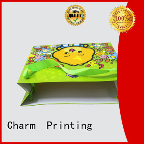 Custom paper shopping gift  bag with ribbon