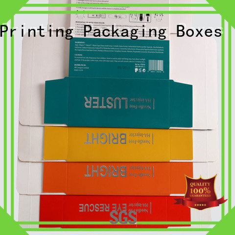Customized printed paper colorful box for cosmetics