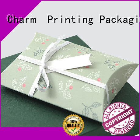 CharmPrinting apparel packaging boxes white paperboard for gift